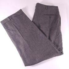 POLO RALPH LAUREN Winter Weight 100% Wool Pleated Dress Pants 36x31.5 Gray