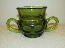Vintage Indiana Glass Green Kings Crown Sugar VFC
