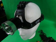 T6 LED Headlamp 1800 Lumens High Power Torch CREE Headllight  100m Beam Range