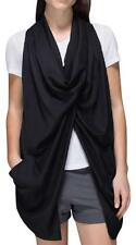 LULULEMON~BLACK~TENCEL *TRANQUILITY SL WRAP* SLOUCHY RELAXED VEST STYLE~10~RARE