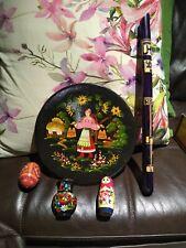 Petrikov Painting Plate ,Egg ,Matreska,Jar Magnet,Recorder