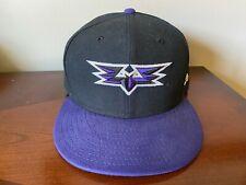 New Era 59Fifty Louisville Bats Cap/Hat Fitted 7 5/8 MiLB Purple Black Bat