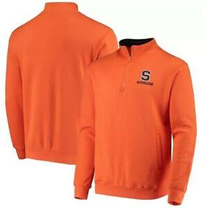 NWT Men's Colosseum Orange Syracuse Orange Tortugas Logo Quarter-Zip Jacket (3XL