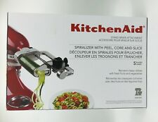 KitchenAid KSM1APC 5-Blade Spiralizer with Peel, Core & Slice - Red