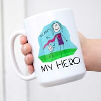 Coffee Mug For Mom - Mommy Is My Hero - Mother's Day Gift From Kids Ceramic Mug