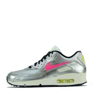 Nike Air Max 90 FB Junior Youth Trainers Shoes Silver