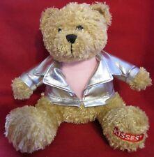 "Galerie Kisses Brown Teddy Bear Silver Jacket Pink T, 7"" Plush Stuffed Animal"