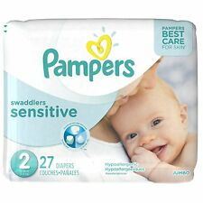 Pampers Swaddlers Sensitive Diapers Size 2, 27 Diapers