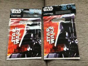 **Disney STAR WARS Darth Vader PARTY LOOT BAGS Birthday Party - 12 Bags **