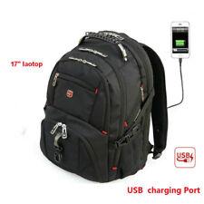 "17"" Swiss gear Waterproof Travel Bag Laptop Notebook School Backpack USB Port"