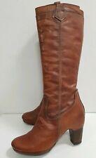 HISPANITAS Nubuk Leder Hochschaft Stiefel 40 Boots Blogger Cognac tolle Farbe
