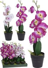 New-unwanted Gift Artificial Orchid Purple Flower in Pot by Flutterbyes