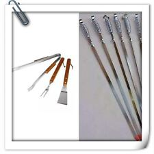 24pc Bbq Skewers Kebab Barbecue Chrome Reuseable With Free Utensil Cutlery  Set