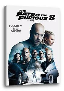 """FAST AND THE FURIOUS 8 CANVAS Fate Photo Poster Print Wall Art """"30x""""20 CANVAS"""