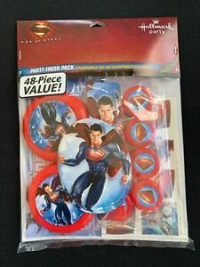 Hallmark Superman Man of Steel Party Favor Pack 48 Pieces