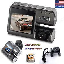 "HD Dual Lens Car DVR Dash Cam 2"" Vehicle Rearview Camera Video Recorder G-Sensor"