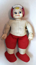 1940's ARCHIE AUTOGRAPH Football Doll Vintage Figure in Helmet & Uniform Sig