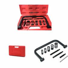 10 pcs Solid Valve Spring Compressor Kit 5 Adaptors Pusher Tool Black Brand