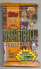 Topps-1993-94-NBA Trading Cards 9 Sealed Packs-Series Two