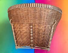 Woven Basket Vintage Estate Unique Weaved