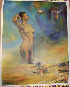BIRTH OF AFRICA 1970 VINTAGE ART POSTER By GUSTAVE ALHADEFF