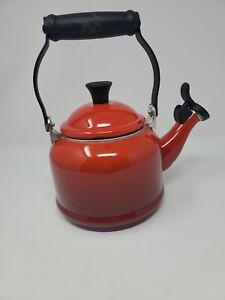 Le Creuset Red Ombre 1.25qt Teapot Tea Kettle