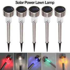 Stainless Steel LED Solar Power Light Outdoor Garden Landscape Lawn Path Lamp