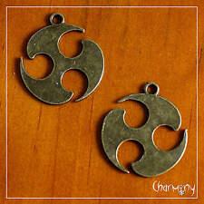 Ancient Bronze Symbol charms~Triskelion PACK of 2~ Celtic metal pendant triskele