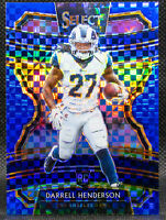 2019-20 Darrell Henderson Prizm Select Football Blue Xfractor Rookie RC /175