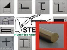 Messingprofil 3 Stück  U 1x0,6mm von STEBA 8260