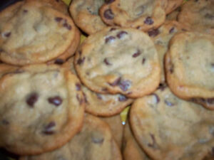 2 DOZEN DELICIOUS SOFT CHOCOLATE CHIP COOKIES, BAKED AFTER ORDER IS PLACED
