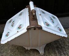French vintage enameled godin cast iron ash pan