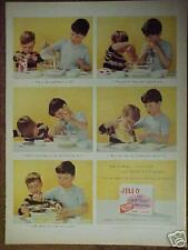 1956 Jell-O Two Little Boys~Kids Egg Beater Cooking Kitchen Collectible Print Ad