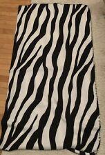 Old Navy Zebra Print Black And White Fleece Blanket 52� X 60� Super Soft
