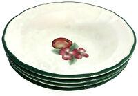 Set of 4 Epoch Market Day by Noritake Rim Cereal Bowls Fruit Design