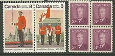 CANADA MNH BLOCK OF 4 NICE BLOCK SC#291, #693A ROYAL MILITARY Pair