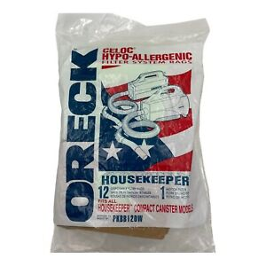 12 Pack Oreck Xl Buster Canister Vacuum Bag PKBB12DW Housekeeper Fast Ship!