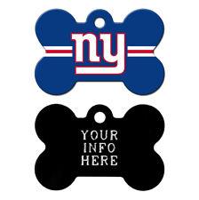 New York Giants Custom Engraved Pet Tag - Dog Bone Shape