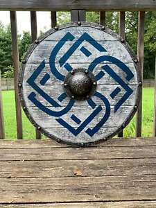 """(Medieval Shield)Viking Shield 24"""" Wooden Shield Heavy Metal Fitted"""