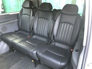 Mercedes Vito Viano Black Leather bench Rear Seat Folding And Reclining 2+1 W639