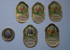 RARE VICTORIAN  ANTIQUE  STANDARD PERFUMES CO NEW YORK  LABELS 5 DIFFERENT  SET