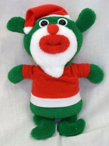 SingAMaJigs Santa Plush Doll Christmas Figure GREEN with Santa Suit RETIRED NWT
