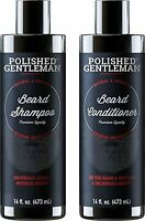 Beard Growth and Thickening Shampoo and Conditioner - With Organic Beard Oil ...
