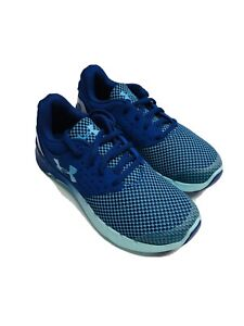 under armour girls Shoes, Size 3.5 Y, Blue/green