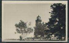 MI Eagle Harbor RPPC 1920's LIGHT HOUSE LIGHTHOUSE Keweenaw County