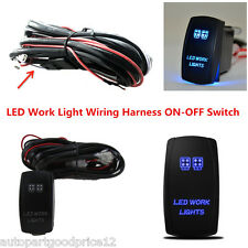 Auto Off-Road LED Work Light Wiring Harness 40A Relay ON-OFF Laser Rocker Switch