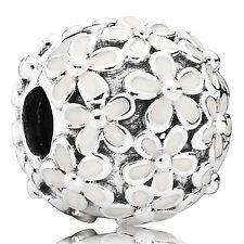 PANDORA Charm Clip Element 791494 EN12 Blüten Flowers Silber Bead