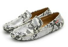 Snakeskin Men's Boat Shoes Moccasin-gommino Driving Loafers Casual Slip On Flat