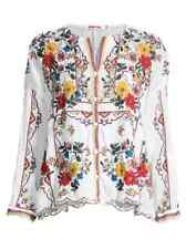 NWT Johnny Was Cabo Embroidered Blouse L $310