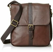 Fossil Men's Estate Saffiano Leather North-South City Brown Bag.  New with tags.